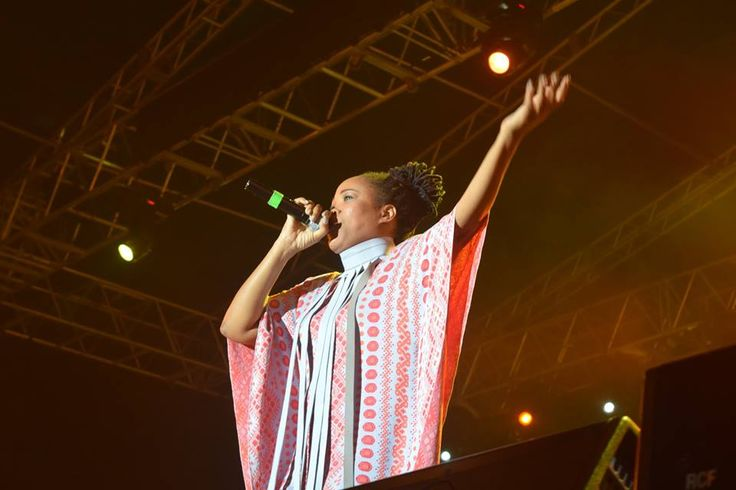 Queen Ifrica performing on Night 2 of Rebel Salute 2016. — at Grizzly's Plantation Cove, St. Ann, Jamaica .
