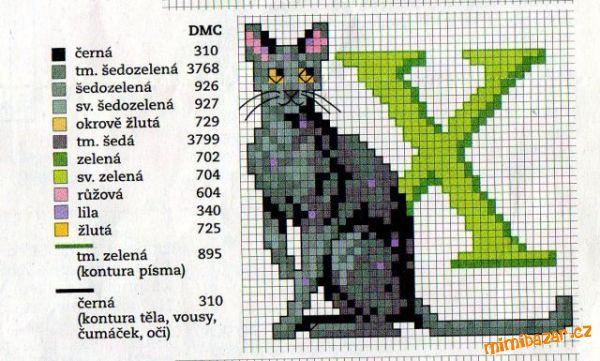 Cat Alphabet: X
