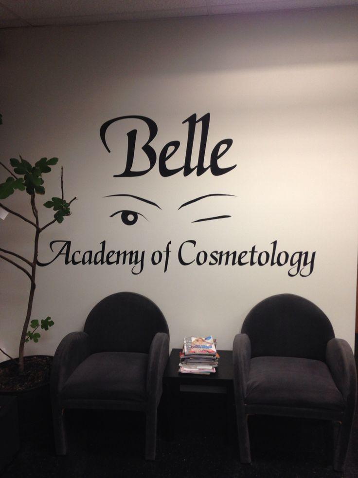 Belle Academy of Cosmetology new lobby logo in Waterbury
