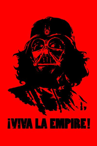 Darth and Che have nothing in common, not even great hair.