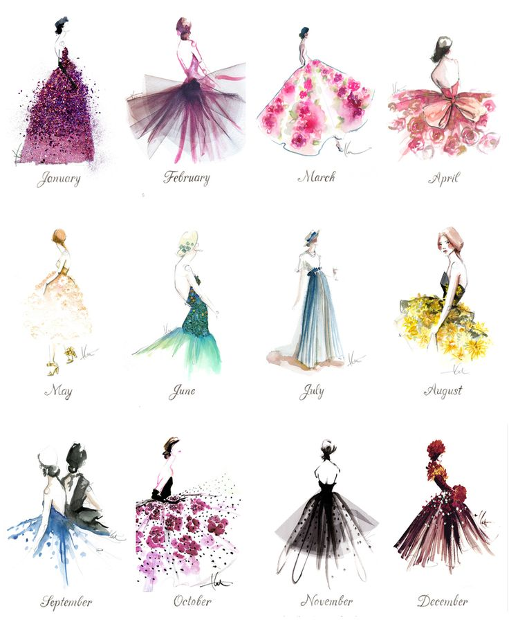 Thank you Katie Rodgers, the illustrator behind Paper Fashion for sending me this beautiful calendar 2014, A Year of Gowns!