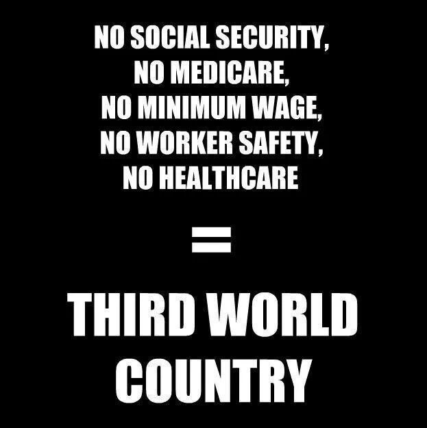 Brought to us by the Republican Party and their obedience to the 1%. Anyone ready for a Constitutional Amendment identifying people as people not corporations and ridding politics of money?