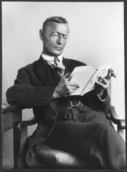 Hermann Hesse. Writer and Nobel Prize in Literature (1946). He was born in 1877 in a Black Forest town in Germany.