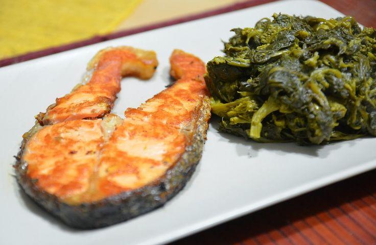 Sapori in Zona: Trancio di salmone con broccoletti (4 blocchi)