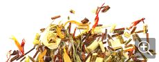 creme brulee: green and red rooibos**, safflowers, calendula marigold.