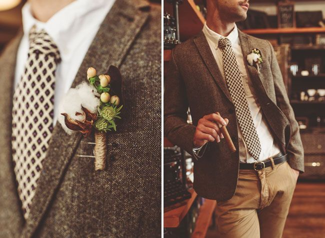 Weddings: Stylish   Unique Boutonnieres | Inspirational Photography Blog