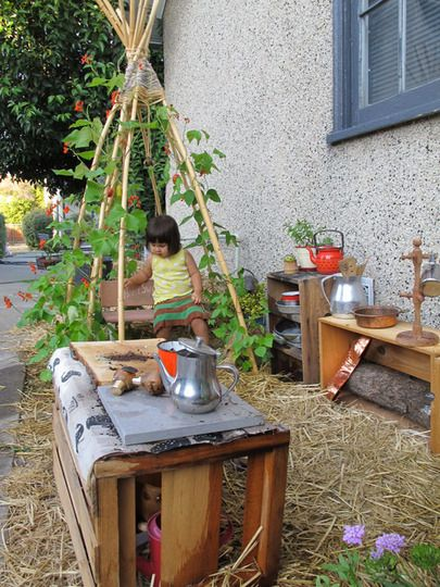 small outdoor garden playspace for kids