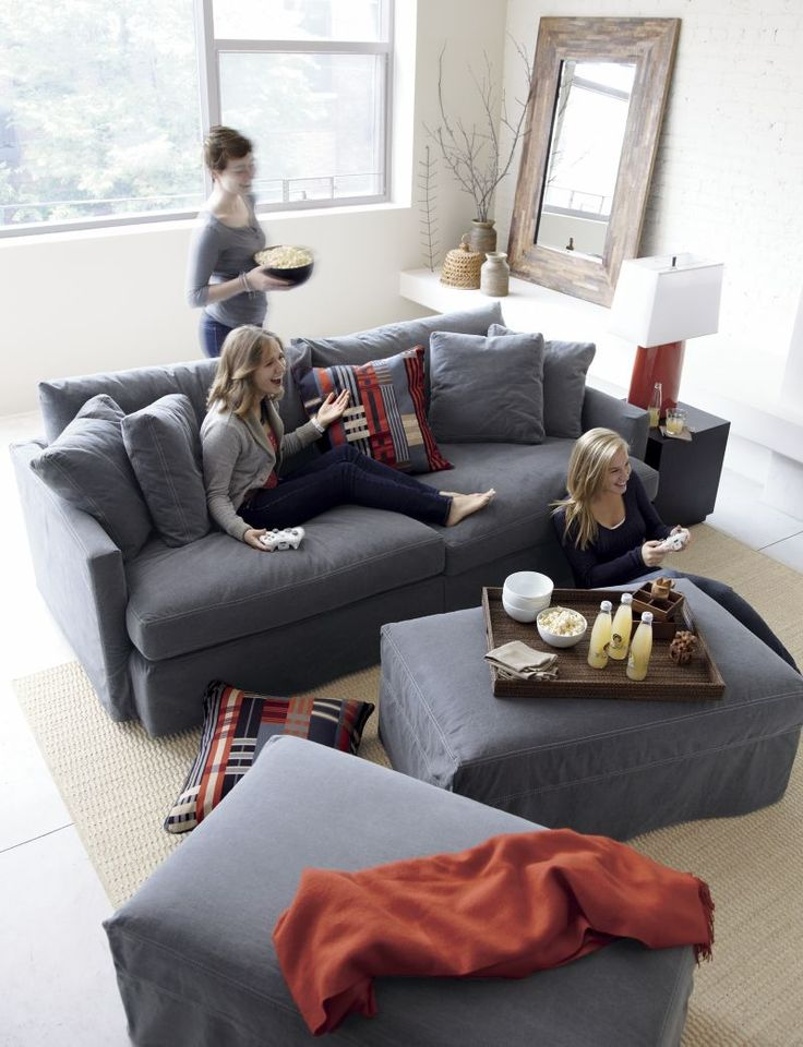 122 best Sofas images on Pinterest Slipcover sofa, Slipcovers - deep couches living room