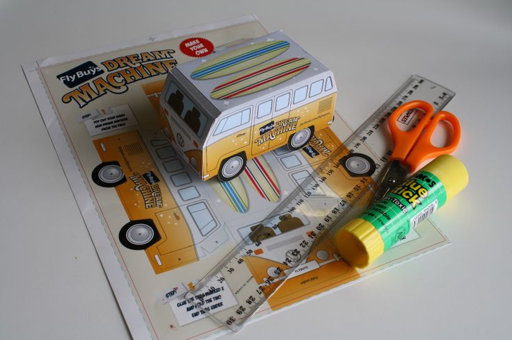 We made a mini version of our Fly Buys Dream Machine Kombi van! #craft