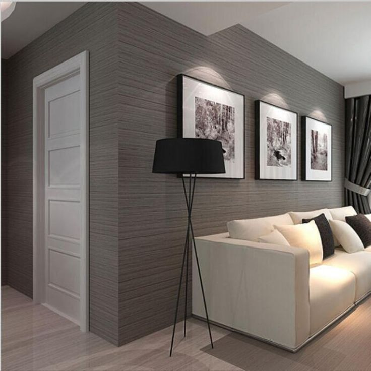 Beibehang 3D Dark Gray Striped Flocking Non Woven Wallpaper Modern Style  Three Dimensional Solid Part 95