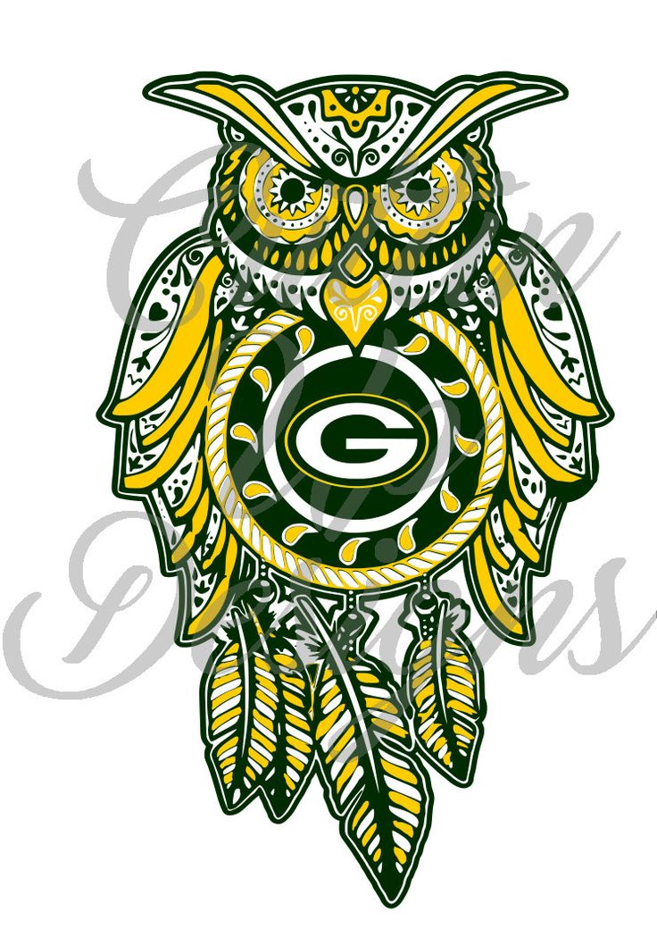 Green Bay Packers Dreamcatcher Owl Sugar Skull SVG Cutting file for cricut or…