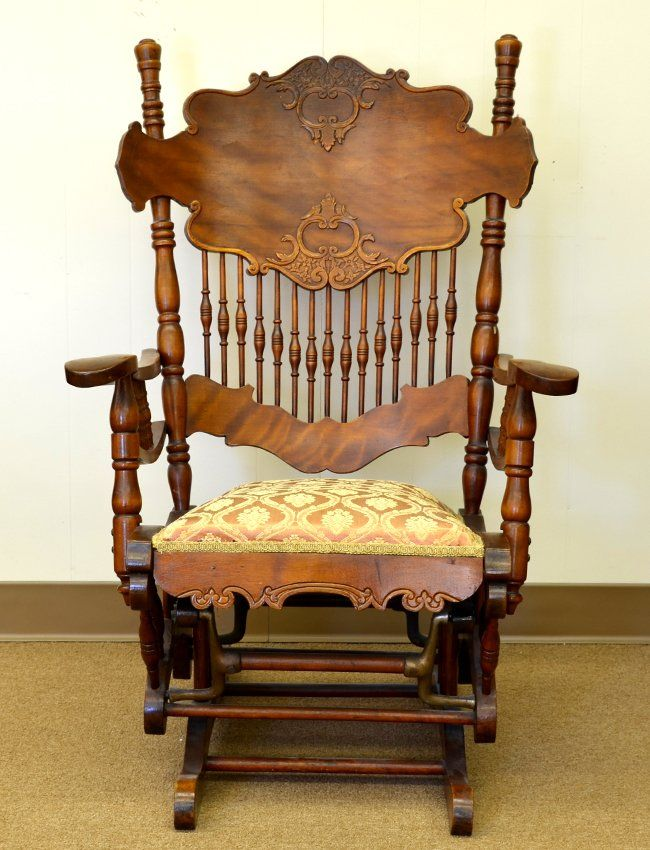 A Victorian Glider Rocker : Lot 468, furniture, auction 5/31...seems like Great-grandma sat in one of these