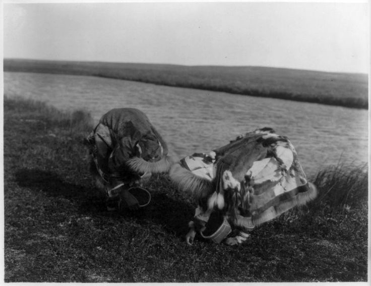 Captured: Edward Curtis Photographs berry pickers Compare with Peter Pitseolak's images.