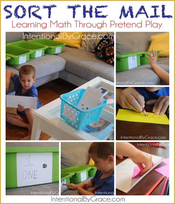 Sort the mail - learning through pretend play