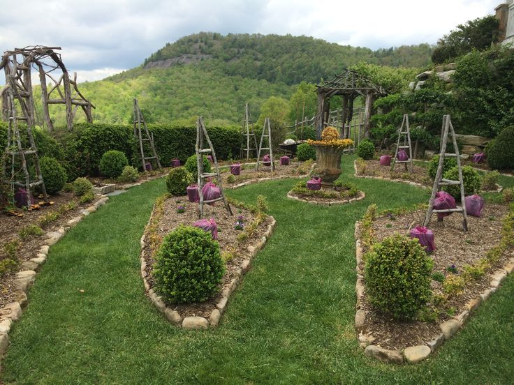 Western Garden Ideas western garden decor home decore inspiration garden idea A Formal Rose Garden Designed On A Terrace Overlooking The Western North Carolina Mountains