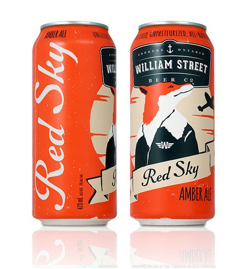 Red Sky William Street Beer C2 | Packing designs