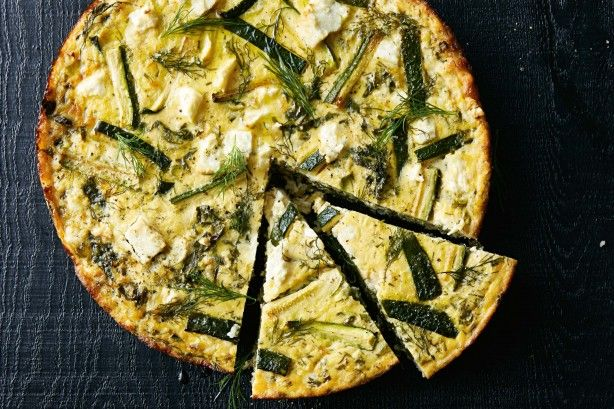 Greek Zuchinni Brown rice tart Using yoghurt in place of milk gives this tart a rich, tangy flavour.