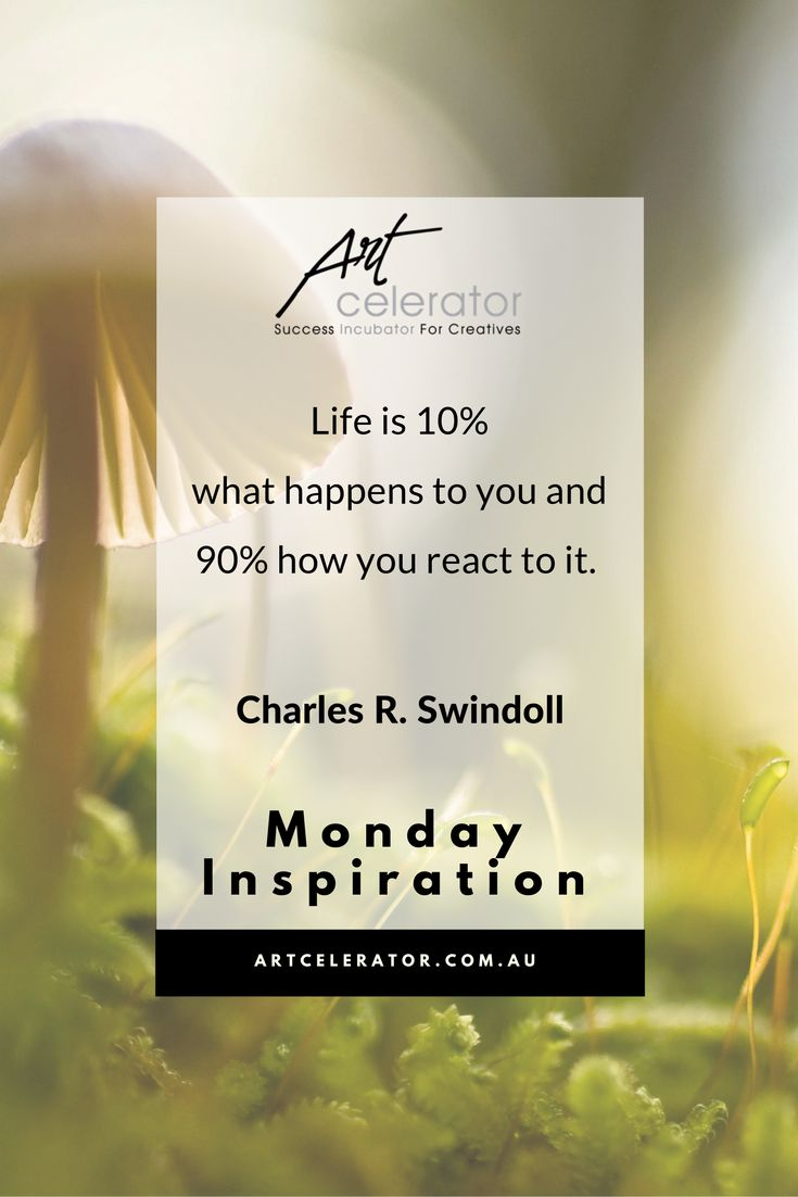 Creating inspiration to start Monday with the right tools and the correct mindset. Get your weekly dosage of inspiration with ArtCelerator.