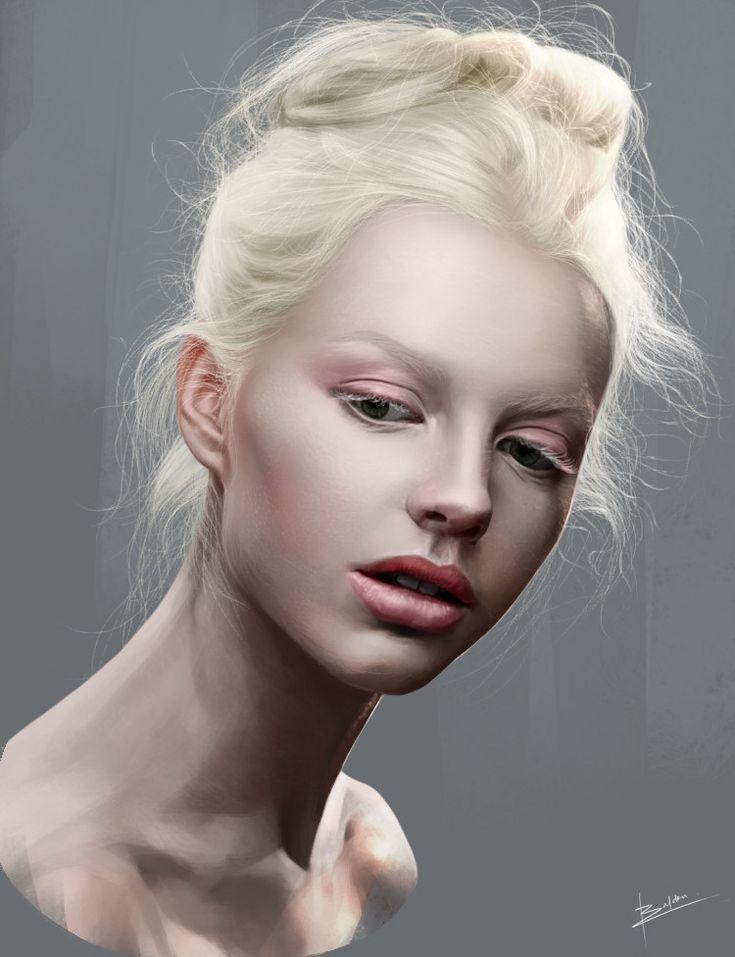 ArtStation - pencil style b&w and Colored version digital paint, Karl Baldon