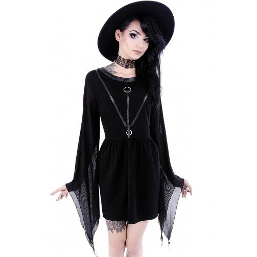 Coven Tunic black goth dress by Restyle
