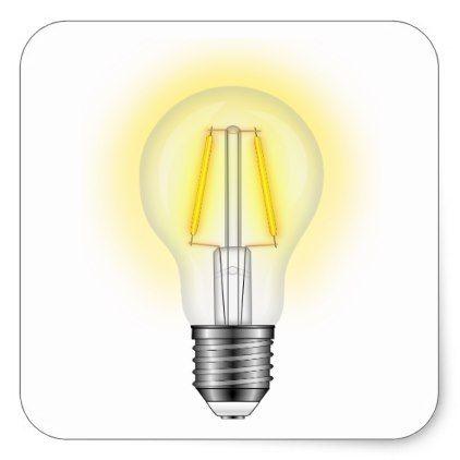 Glow Lamp Square Sticker  $5.25  by mvvgrey  - cyo customize personalize unique diy idea