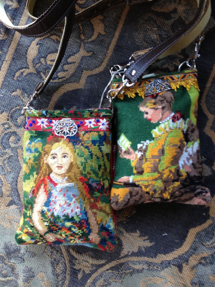 Needlepoint bags