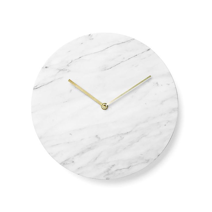 top3 by design - Menu - marble wall clock white