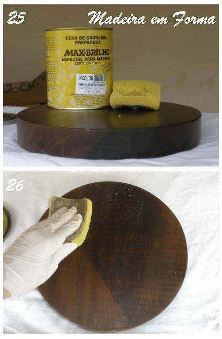 Restauração de Móveis de Época : Como lustrar madeira com boneca e seladora.