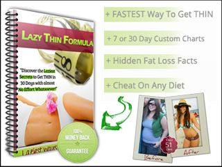 Lazy Thin Formula – Laziest Ways To Lose Weight Fast! I know you're here because you're searching for an effective weight loss diet or program. Like millions of other women and men around the world, you're fed up with being out of shape and wanna slim down as fast as possible.