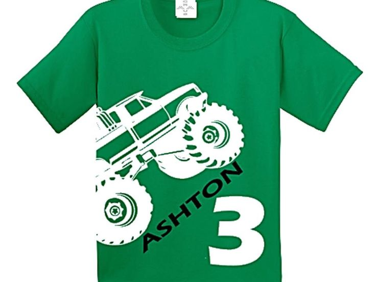 Monster Truck Birthday Shirt by CRAAUS on Etsy https://www.etsy.com/listing/218942113/monster-truck-birthday-shirt
