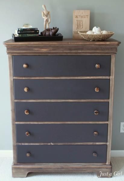 DIY Furniture  : DIY Industrial Rustic Dresser