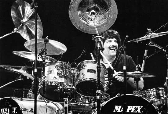 """Carmine Appice set the foundation for heavy drumming ... before Bonham, before Ian Paice... before anyone else."" - Rick Van Horn, 1999 Modern Drummer magazine."