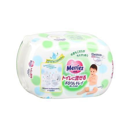 Merries Салфетки детские 64 шт.  — 440р. ----------------------- Детские салфетки Merries 64 шт цвет зеленый.Влажные салфетки для новорожденных японской марки Merries в пластиковом контейнере. Если вам надоело, что при замене подгузника кожу малыша приходится долго или сильно тереть, если вас беспокоит, что нежная кожа краснеет и натирается при использовании салфеток, попробуйте салфетки Merries. Они мягкие и плотные, на их поверхности имеются зоны для удерживания стула (небольшие…