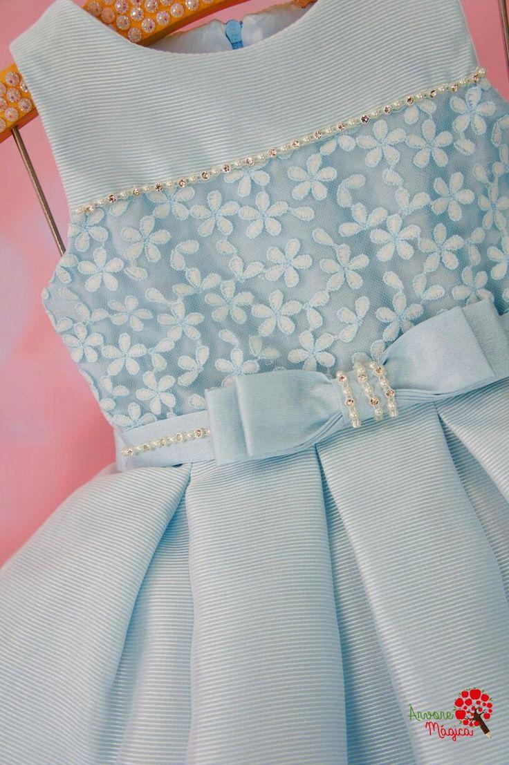 Vestido de Festa Infantil Azul Princesa Petit Cherie