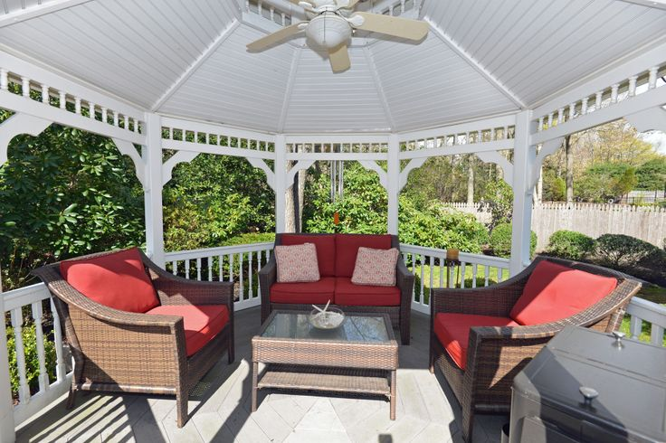Gazebo Design Living Pieces With Mounted Tv And Outdoor