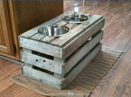 Dog bowl stand!