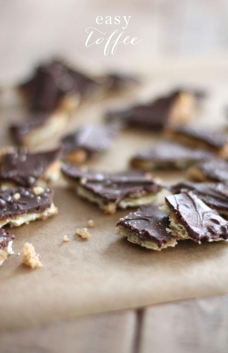 4 ingredient easy & amazing toffee recipe!