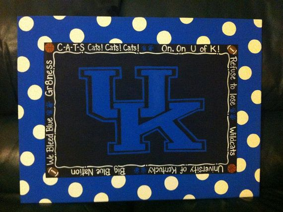 Handpainted University of Kentucky sports canvas by PaintedPlaques, $70.00