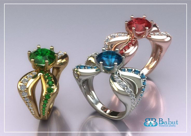 ring made ​​with a wide range of shades