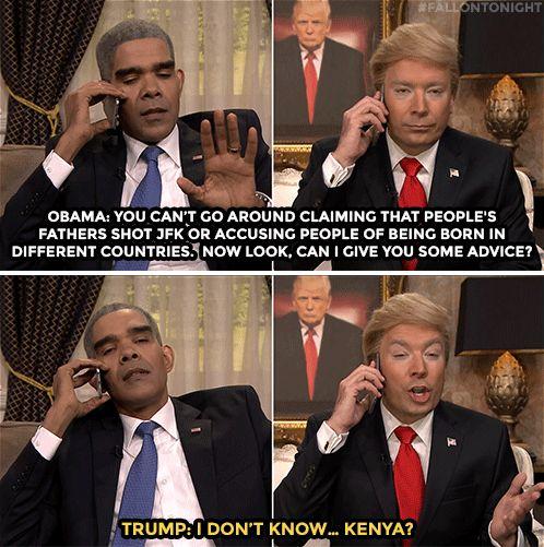 The Tonight Show Starring Jimmy Fallon donald trump obama