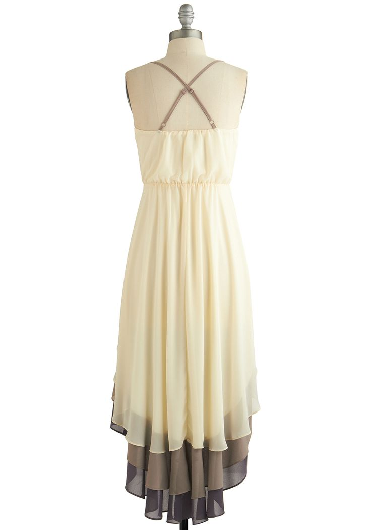 Cheers for Tiers Dress. Let's hear it for styles that evoke a joyful feeling with every wear - including this ethereal ivory dress! #cream #modcloth
