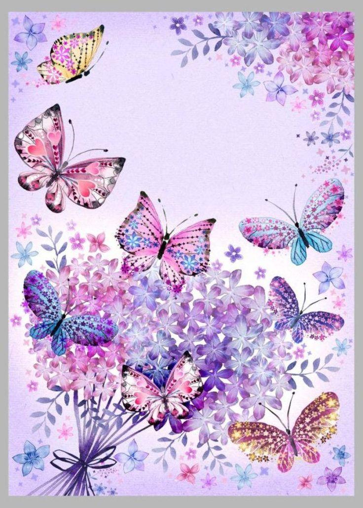 Бабочка картинка для открытки, анимации
