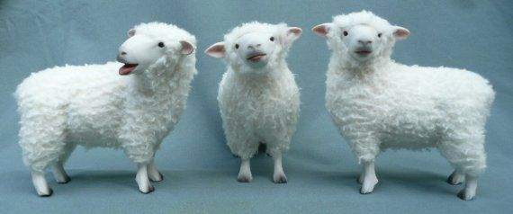 Baa Ram Ewe. Cute sheeps!Colin O'Donoghue, Porcelain Wooly, Wooly Animal, Colin Creatures, Colin Christmas, Artists Colin, Christmas Choirs, Creatures Collection, Colin Richmond