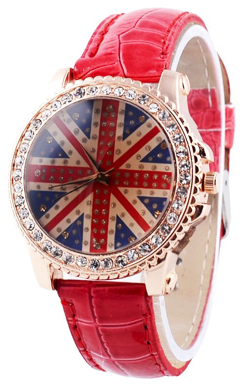 red UK flag watch