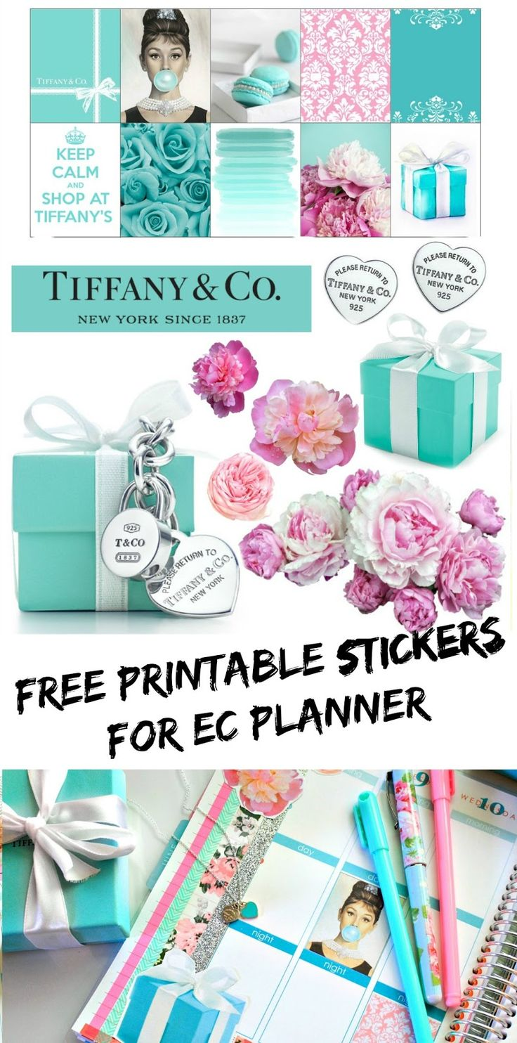 BelindaSelene: Decorate Your Planner With Me: Free Printable Tiffany and Co. Stickers