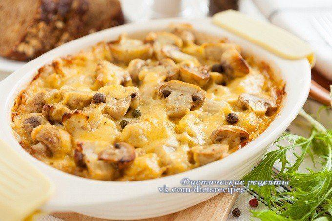 Запеканка из грибов и картофеля! Диетические рецепты
