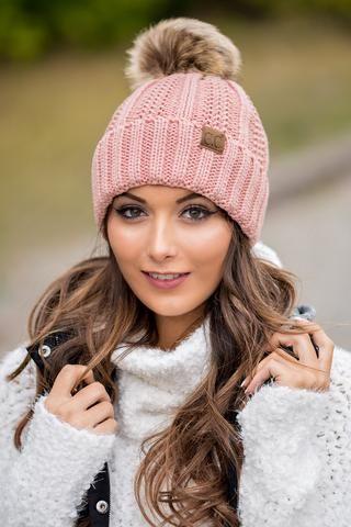 CC Knit Blanket Lined Fur Pom Pom Beanie (Indie Pink) - NanaMacs.com - 1