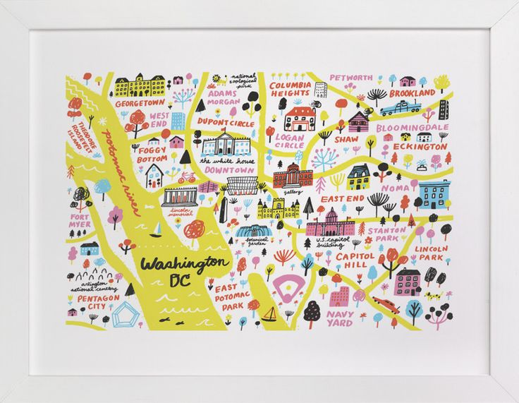 """""""I Love Washington D.C."""" - Art Print by Jordan Sondler in beautiful frame options and a variety of sizes."""