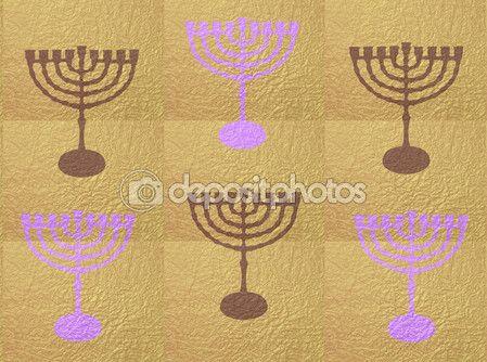 Hanukkah, candlesticks tradition symbols, abstract gold background — Stock Photo © sofiartmedia.gmail.com #94074296