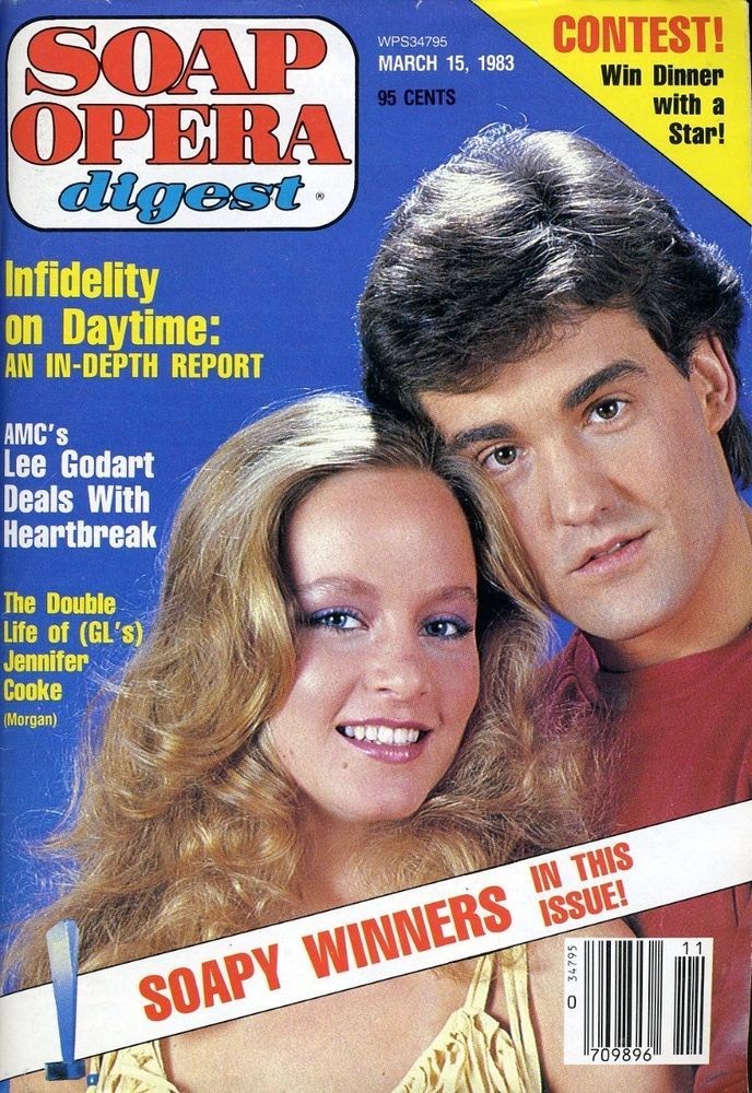 soap opera digest march 15 1983 jennifer cooke and john wesley shipp no label from $14.95